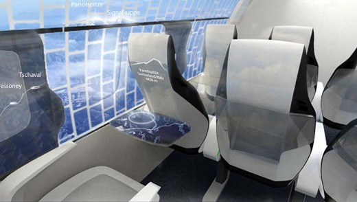 As part of German company TU Dresden's 'Concept Cabin' of the future, the inside walls of the plane?s cabin will be ...
