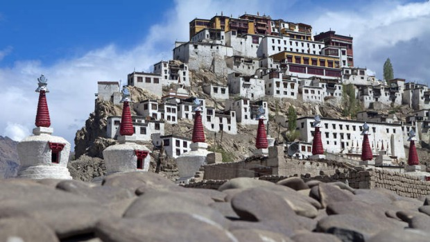 High points: Thiksey Monastery.