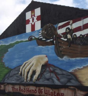 Momentous: A mural depicts the mythical Red Hand.