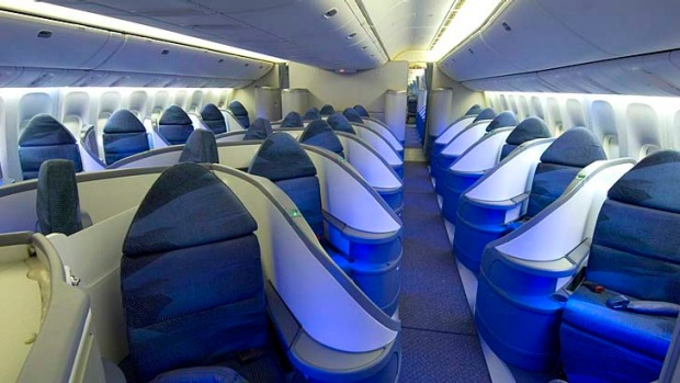 Air Canada's executive first class has lie-flat beds that are truly flat; they recline to 180 degrees, unlike some ...