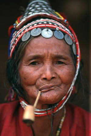 An Akha woman.