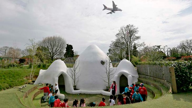 Hounslow Heath infants' school is directly under the flight path of Heathrow's southern runway and outside play for the ...