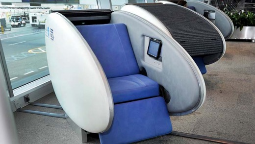 The pods are available for use at $12 an hour and will eventually feature internet access and power sources for ...