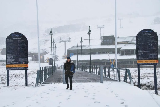 Early snows at Perisher on Thursday, May 16 after falls over night.