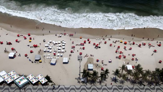 Teeming with sunbathers: Copacabana.