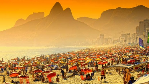 Crammed with tanned bodies: Ipanema.