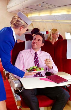 Flight attendants say you're more likely to get an upgrade if you're a man travelling alone.