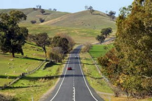 Road near Gundagai, NSW.