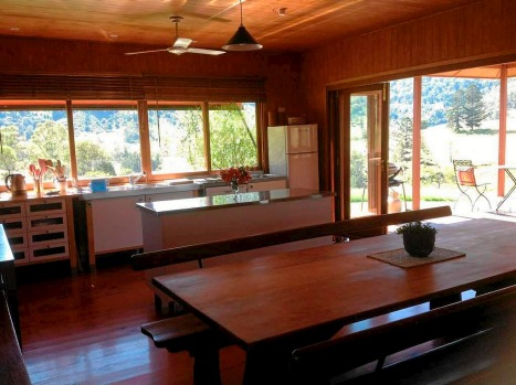The fully-equipped kitchen at Wild Lime Cottage.