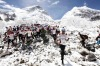 In this handout photograph released by Himex, the organisers of the Tenzing-Hillary Everest Marathon on May 29, 2013, ...