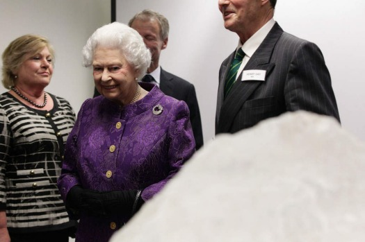 Britain's Queen Elizabeth II attends a reception to celebrate the 60th Anniversary of the first ascent of Mount Everest ...