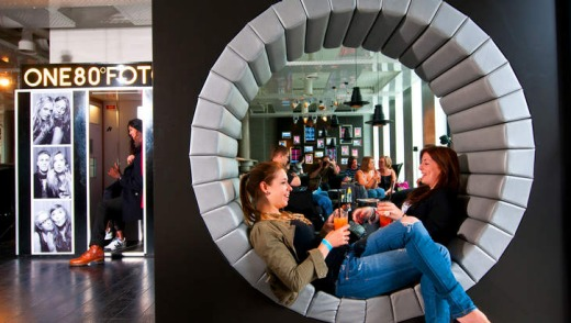 The modern look: 180 Degrees reflects the creative spirit and aesthetic of Berlin.