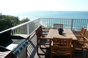 Sea vista: the deck sets the scene for happy weekends away.