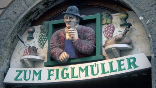 The entrance to Figlmueller.