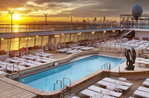 Crystal Symphony cruise ship. Image supplied. SHD TRAVEL JUNE 2 CRUISE.   CS_Refurb_PoolDeck_Sunset.jpg