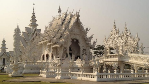 Good and evil: Wat Rong Khun's White Temple.