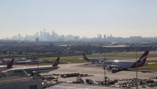 The view from Rydges Sydney Airport.
