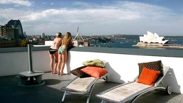 Stunning view ... Sydney Harbour YHA.