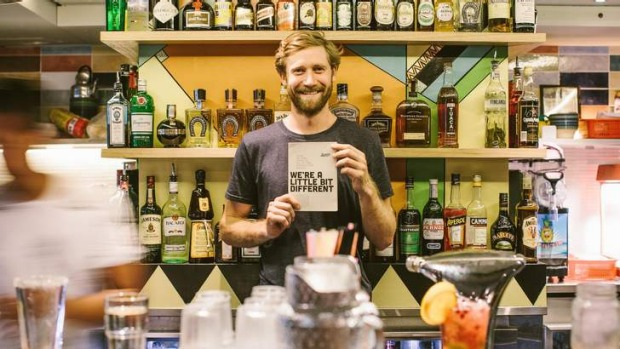 Tipple for good: Simon Griffiths at non-profit bar Shebeen in Melbourne.