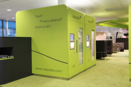 The airconditioned ??Napcabs?? at Munich Airport  have adjustable lighting and wi-fi, bed, work desk, iPhone dock and ...