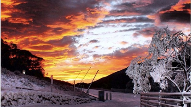 @thredboresort Sunrise.