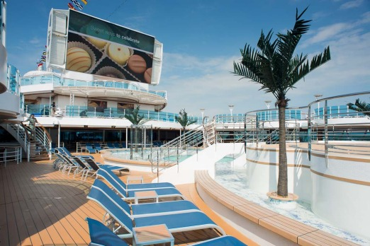 The lido deck on board the Royal Princess.
