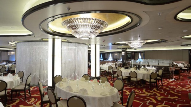 The Royal Princess Allegro Dining Room.