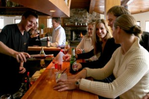 Vodka bar with 70 vodkas, Astra bar at Astra Lodge, Falls Creek. Photograph supplied. SHD TRAVEL JULY 8 APRES SKI