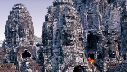 Cultural escape: Cambodia's Bayon temple at Angkor.