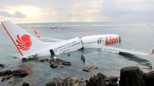 A Lion Air Boeing 737 crash landed earlier this year, but the passengers escaped safely.