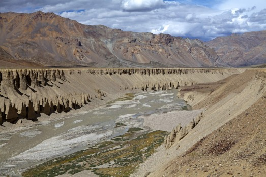 A gorge at Sarchu on the Manali-Leh highway, India.