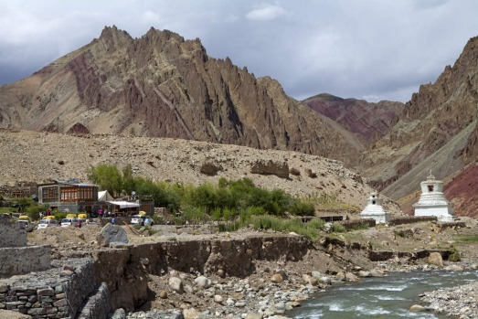 The Ladakhi village of Rani Bagh, on the Manali-Leh highway, India.