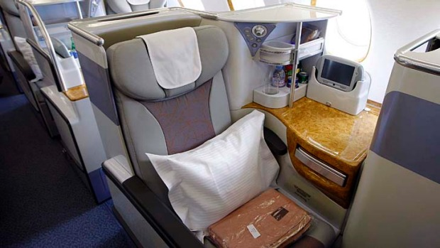 Business class on Emirates. Only if the airline could get your bedroom into the air would you be more comfortable.
