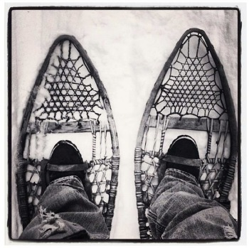 @skiclubvictoria vintage snowshoes