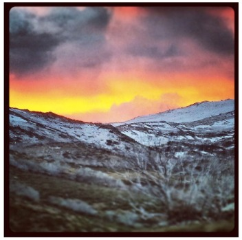@chris144933 sunset in NSW snowy mountains.