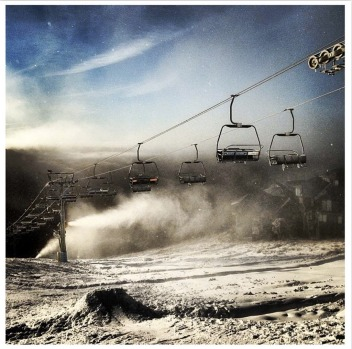 @hothamalpineresort chairlifts cranking.