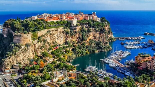 The rock city of Monte Carlo, once home to Princess Grace.