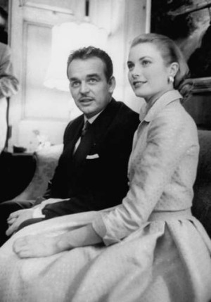 Prince Rainier III with actress Grace Kelly.