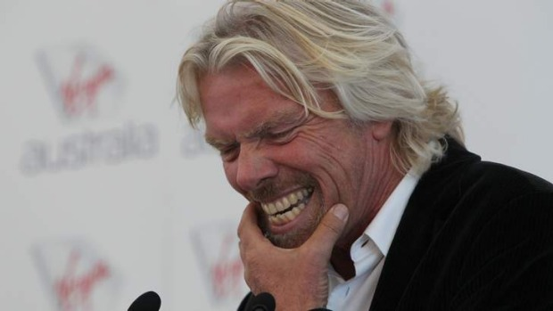 Always up for a laugh: Sir Richard Branson.