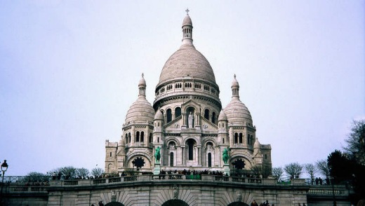 Sacre-Coeur Basilica in Paris.