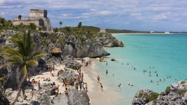 """Pristine water and those awesome Mayan ruins"": Tulum in Mexico."