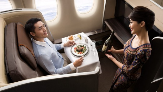 Singapore Airlines' new first-class seating.
