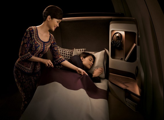 Singapore Airlines business class.