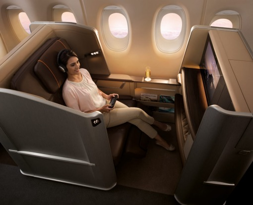 Singapore Airlines first class.