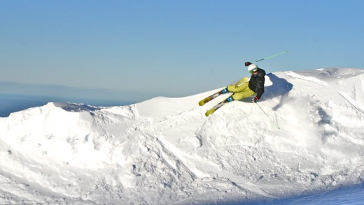 Making good use of the snowfall at Virgin Mile Ridge on Mt Hutt, Christchurch, New Zealand.