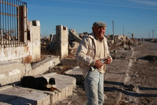 Pablo Novak, former resident of Epecuen who returned when the town dried out.