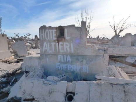 Epecuen, a village that once was submerged in water in Argentina.