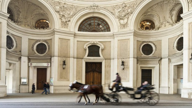 The impressive entrance to the Spanish Riding School dates from the 18th century.