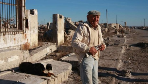 Pablo Novak is the lone resident of the ruined Epecuen.