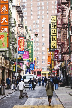 Full of colour: New York's Chinatown.